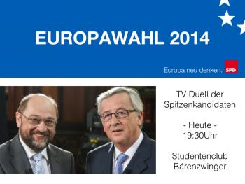 TV Duell zur Europawahl