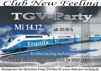 Tgv party club new feeling 14 dezember 2005 for Cocktail tgv